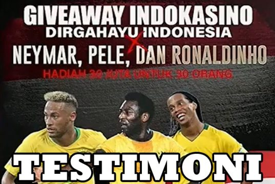 Testimoni Giveaway Dirgahayu Neymar , Pele , Ronaldinho IDKS